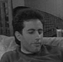 Seinfeld head BW