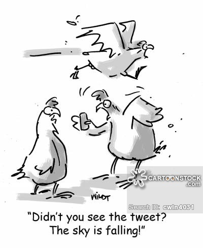 'Didn't you see the tweet? The sky is falling!'