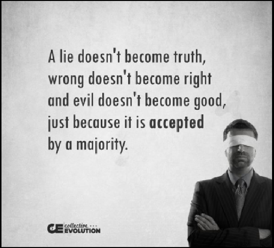 A lie doesn't become truth 560