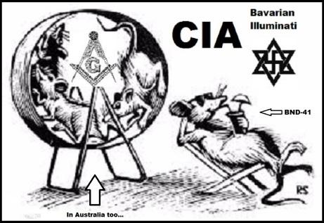 Bavarian Illuminati rat's in Australia too