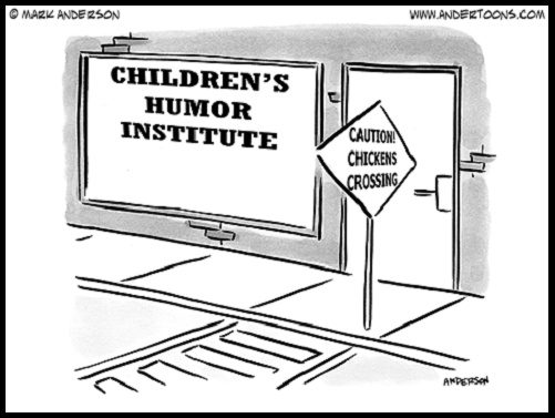 Children's humor institute chicken's crossing