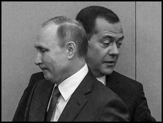 Medvedev fake Putin 560 BW