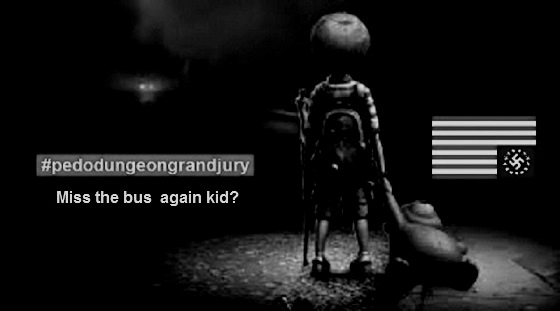 Miss the bus Pedo kid DARKER BW 560