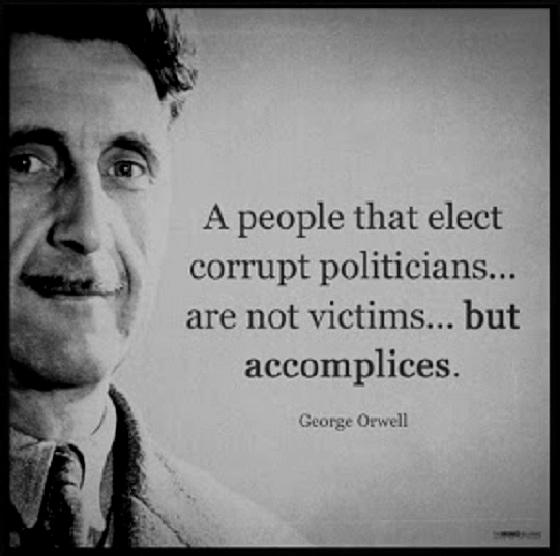 Orwell corrupt politicians BW 560
