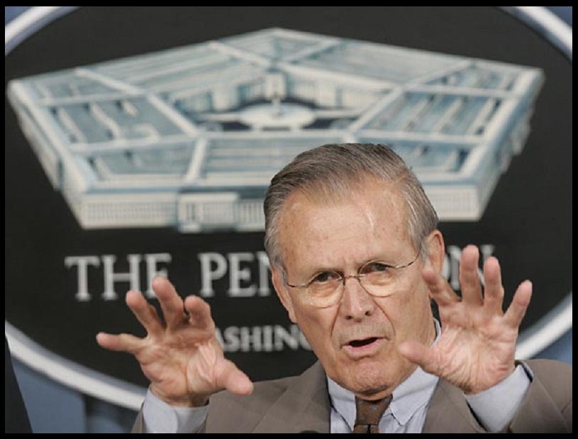 The dumb Don Rumsfeld joke…