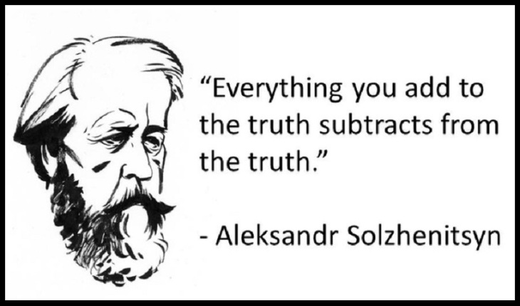 Solzhenitsyn cartoon ~ Truth