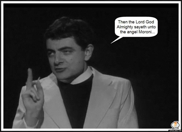 Rowan Atkinson preacher Moroni