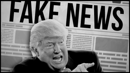 Trump fake news BW