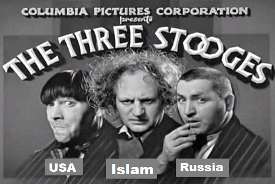 Three Stooges Columbia USA Islam Russia