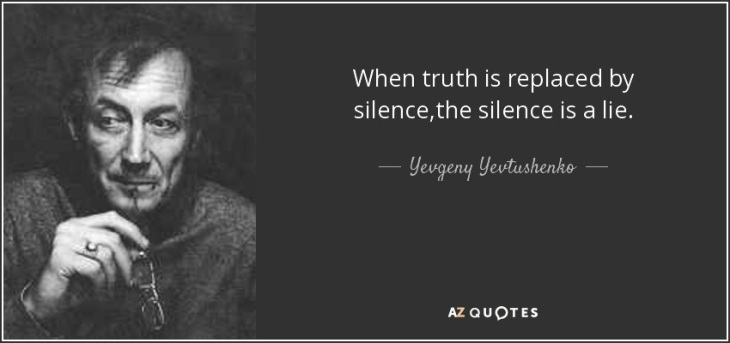 When truth is replaced by silence ~ Russian guy