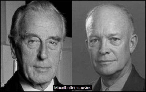 Mountbatten Eisenhower COUSINS 600