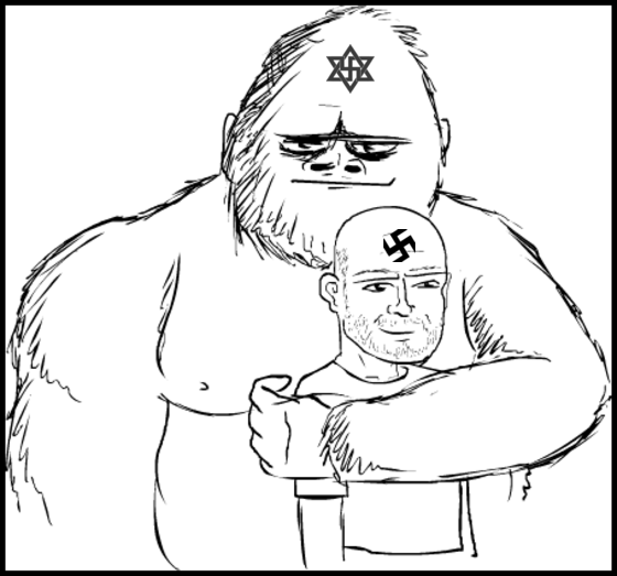 Nazi ape and friend NO TRANS