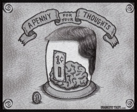A penny for your thoughts Dave LARGE SKETCH