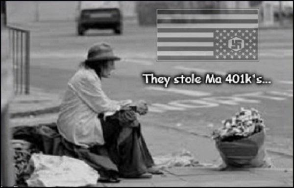 America destitute 401k Nazi's 600