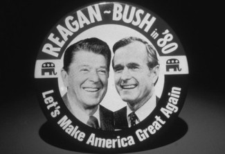 Reagan Bush MAKE AMERICA GREAT Crop 560