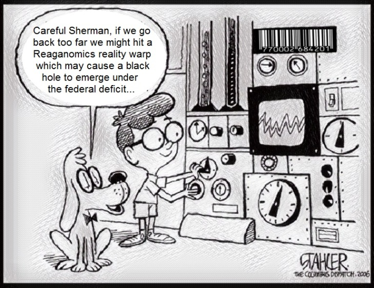 Sherman Peabody and Trump LARGE FEDERAL DEFICIT