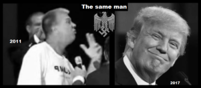 The Two (One) fake Trump's SAME MAN 500