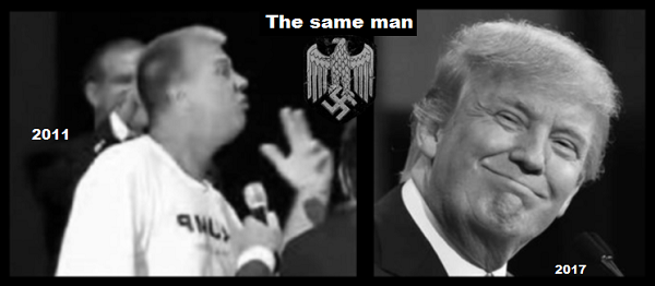 The Two (One) fake Trump's SAME MAN 600