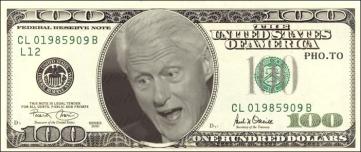 Bill Clinton 100 dollar bill
