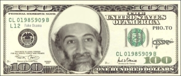 Fake Osama CESSNA 100 dollar bill