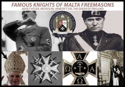 Famous Knight of Malta Freemasons lower color border LARGE