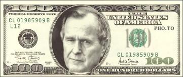 George HW Bush 100 dollar bill
