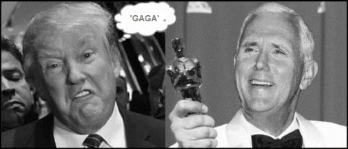 Goofy Dave Trump and Pernce GAGA