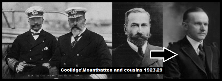 King Kaiser Battenberg and Calvin Coolidge and cousins 23-29
