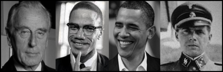 Mountbatten Malcolm X Obama Mengele LARGE