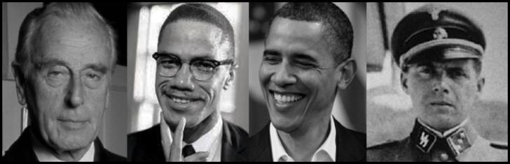 Mountbatten Malcolm X Obama Mengele LARGE