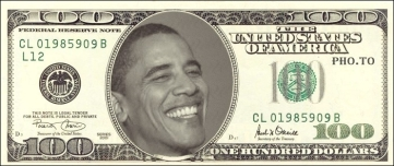 Obama smirk BETTER 100 dollar Bill