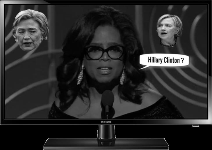 Oprah Winfrey x Hillary Clinton Large television