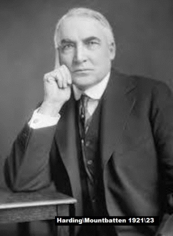 President Warren Harding Mountbatten 21 23 THIS ONE Small