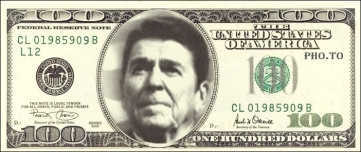 Ronald Reagan 100 dollar bill