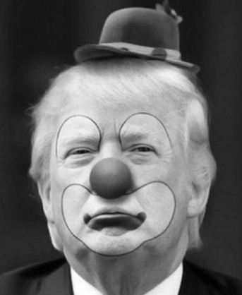 Trumpf clown CROP BW