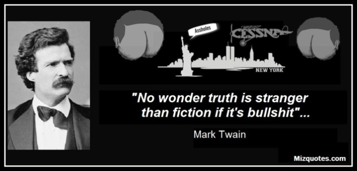 Mark Twain New York fiction ASSHOLES Large