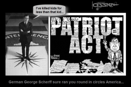 german george bush cia patriot act killed kids