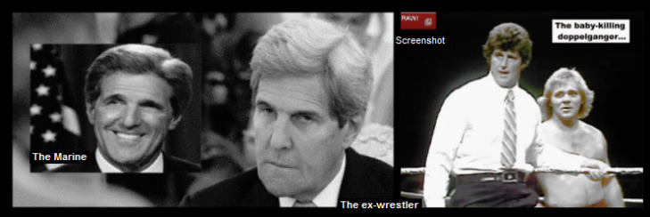 kerry real fake and as a wrestler