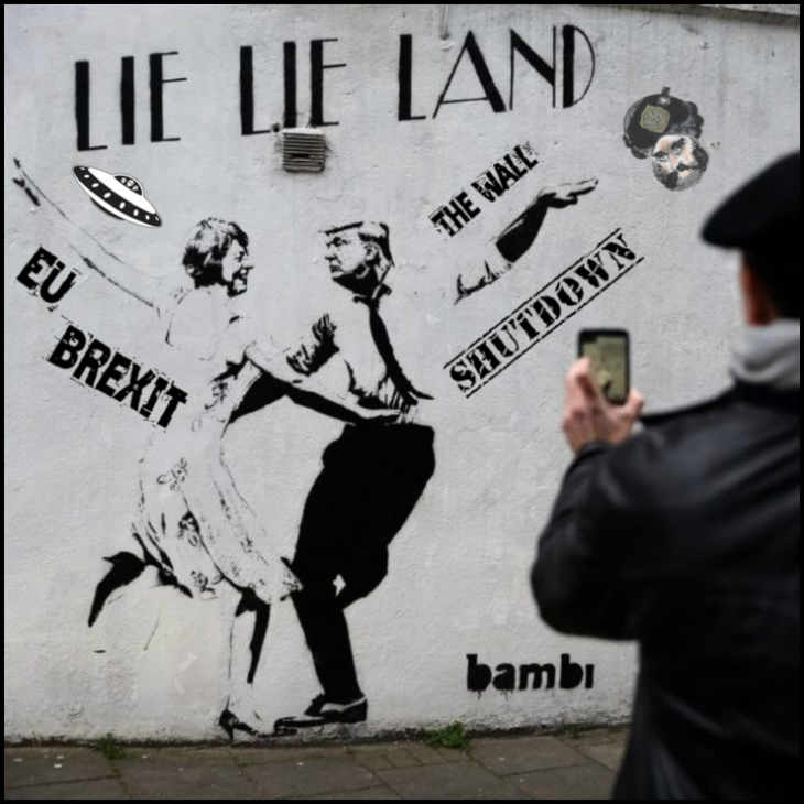 lie lie landtrump and may brexit the wall shutdown