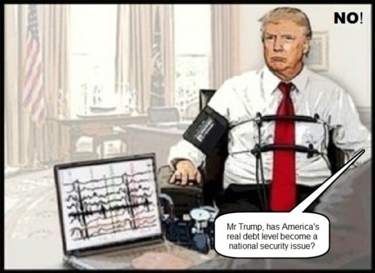 trump lie detector national debt no