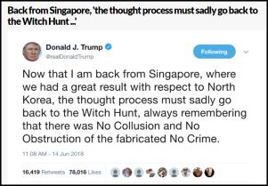 trump russia witch hunt