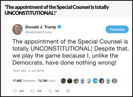 trump tweet unconstitutional