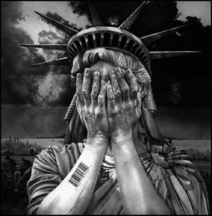 Lady Liberty lost Bar Code BW 750 (2)