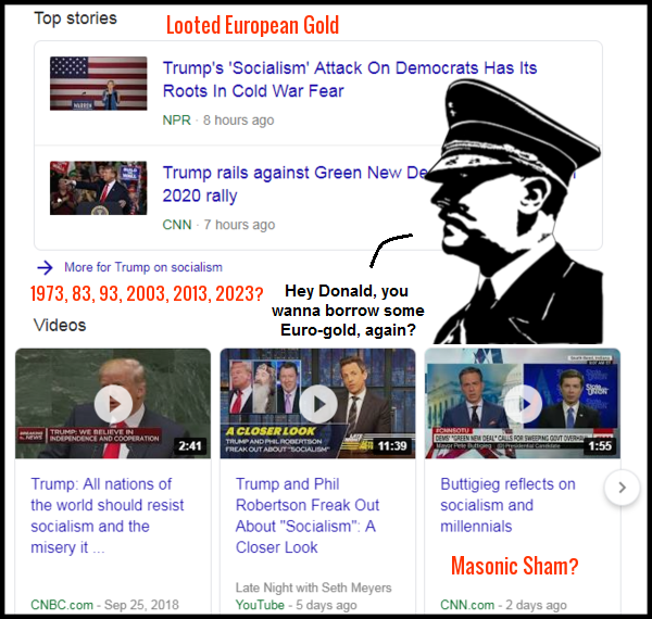 Trump on socialism Google HITLER EUROPEAN GOLD