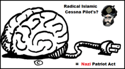Brain Cessna Pilot's NAZI (Red) Patriot Act 600