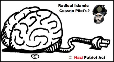 Brain Cessna Pilot's NAZI (Red) Patriot Act 600