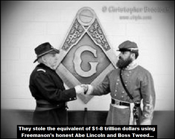 Civil War Masons Lincoln Tweed trillions black and white 600