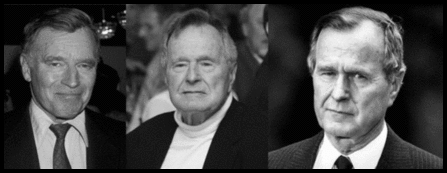 Heston and 41 fake Bush