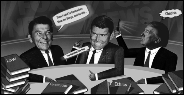Reagan fake Trump law ethics 600