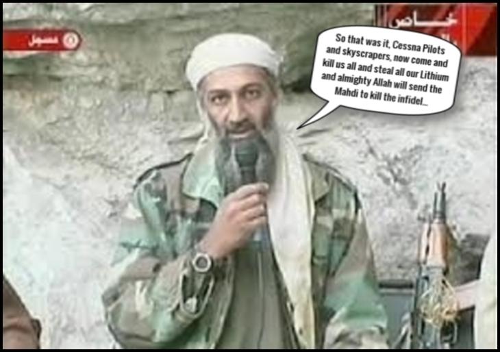 Vanstone fake Osama kill us all ~ Mahdi Lithium LARGE